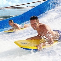 Haermny of the Seas - FlowRider simulátory surfu